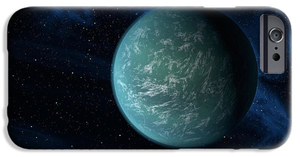 Terrestrial Sphere iPhone Cases - Artists Concept Of Kepler 22b, An iPhone Case by Stocktrek Images
