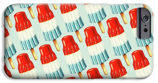Red iPhone 6 Case - Bomb Pop Pattern by Kelly Gilleran