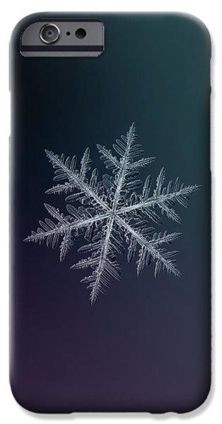 Snowflake Photo - Neon IPhone 6 Case