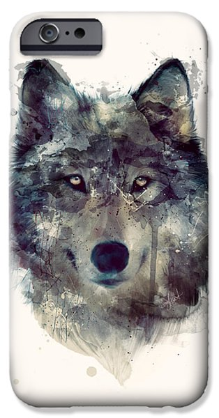 Animal iPhone 6 Case - Wolf // Persevere by Amy Hamilton