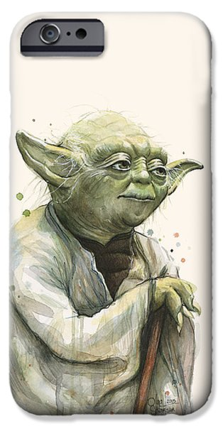 Star iPhone 6 Case - Yoda Portrait by Olga Shvartsur