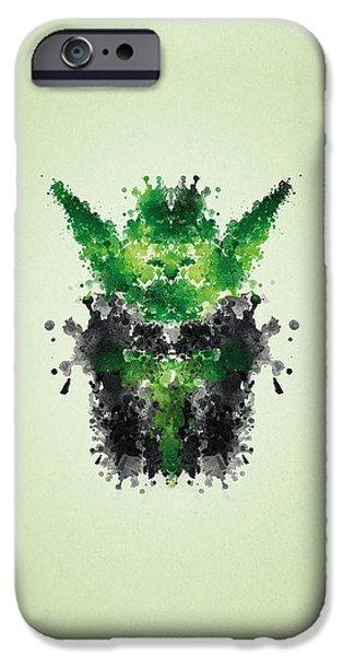 Yoda iPhone 6 Case - Rorschach Yoda by Philipp Rietz