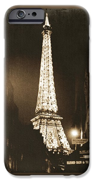 Sepia iPhone 6 Case - Postcard From Paris- Art By Linda Woods by Linda Woods