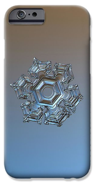 Snowflake Photo - Cold Metal IPhone 6 Case