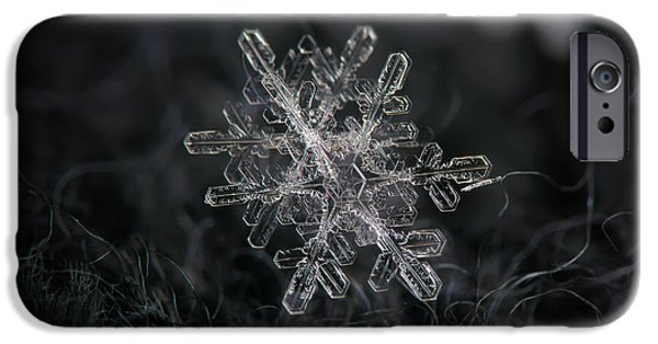 Snowflake Photo - January 18 2013 Grey Colors IPhone 6 Case
