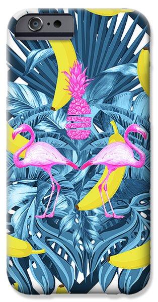 Dissing iPhone 6 Case - Tropical Banana Pink   by Mark Ashkenazi
