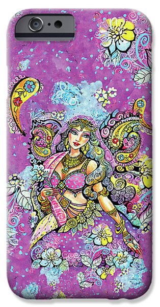 Purple Paisley Flower  IPhone 6 Case