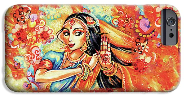 IPhone 6 Case featuring the painting Sun Ray Dance by Eva Campbell