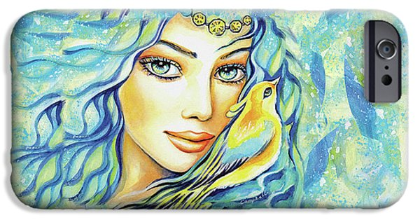 IPhone 6 Case featuring the painting Bird Of Secrets by Eva Campbell