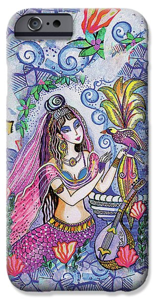 IPhone 6 Case featuring the painting Scheherazade's Bird by Eva Campbell