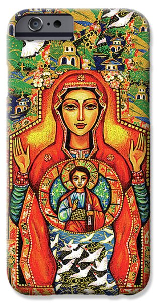 IPhone 6 Case featuring the painting Our Lady Of The Sign by Eva Campbell