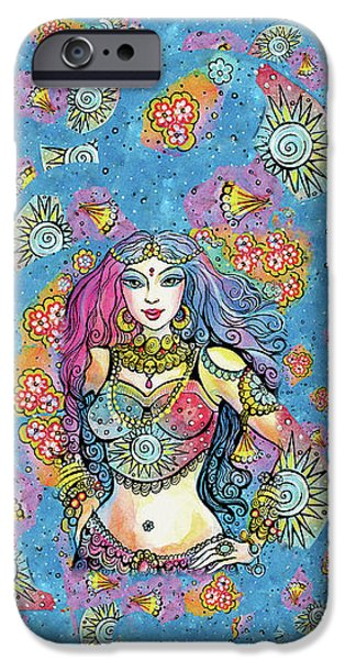 IPhone 6 Case featuring the painting Kali by Eva Campbell