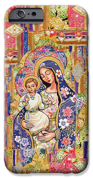 IPhone 6 Case featuring the painting Panagia Eleousa by Eva Campbell