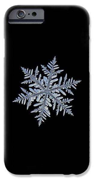 Real Snowflake - Silverware Black IPhone 6 Case