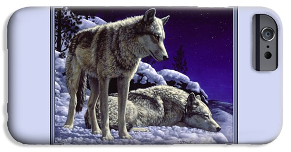 Wolf Painting - Night Watch IPhone 6 Case