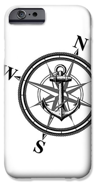 Rope iPhone Cases - Nautica BW iPhone Case by Nicklas Gustafsson