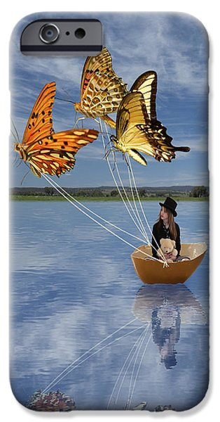 Butterfly Sailing IPhone 6 Case by Linda Lees