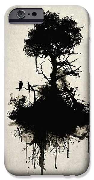 Branches iPhone Cases - Last Tree Standing iPhone Case by Nicklas Gustafsson