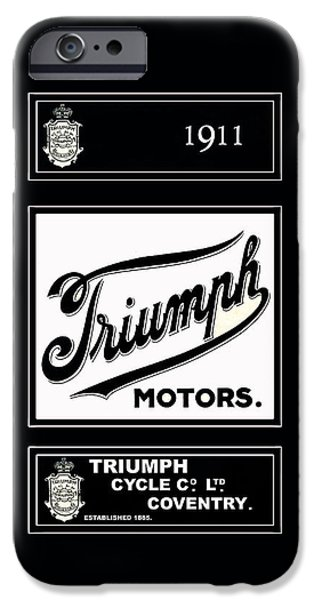 Motorcycle iPhone Cases - Triumph 1911 iPhone Case by Mark Rogan