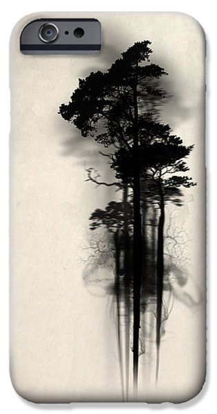 Horror Digital Art iPhone Cases - Enchanted forest iPhone Case by Nicklas Gustafsson
