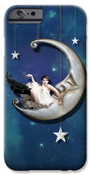 IPhone 6 Case featuring the digital art Paper Moon by Linda Lees