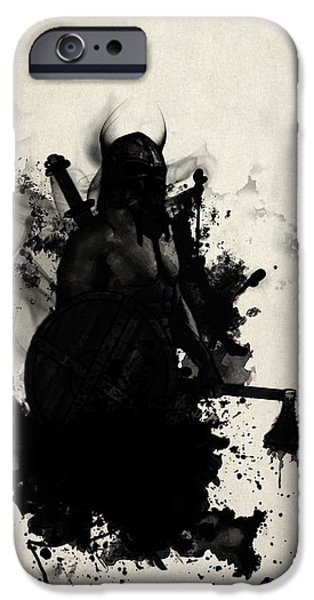 Warrior iPhone Cases - Viking iPhone Case by Nicklas Gustafsson