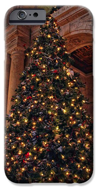 IPhone 6 Case featuring the photograph Astor Hall Christmas by Jessica Jenney