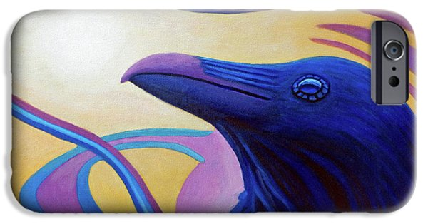 Raven iPhone Cases - Astral Raven iPhone Case by Brian  Commerford
