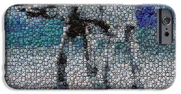 Bottlecaps iPhone Cases - At-At Bottle Cap Mosaic iPhone Case by Paul Van Scott