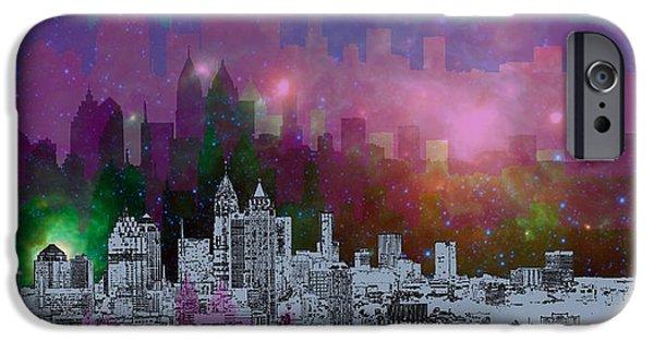 Contemporary iPhone 6 Case - Atlanta Skyline 7 by Alberto RuiZ