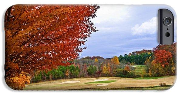 Susan Leggett iPhone Cases - Autumn on the Golf Course iPhone Case by Susan Leggett