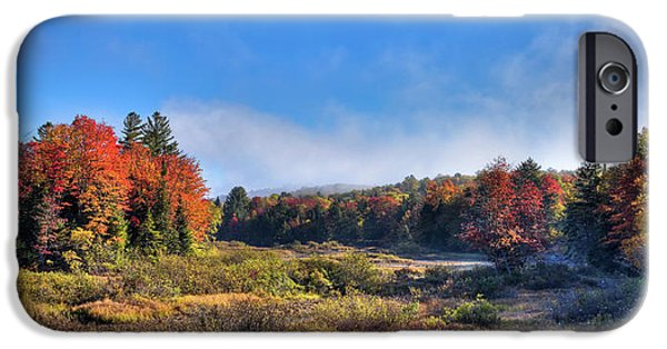 IPhone 6 Case featuring the photograph Autumn Panorama At The Green Bridge by David Patterson