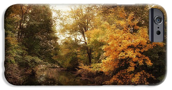 Autumn Digital iPhone Cases - Autumns Allure  iPhone Case by Jessica Jenney