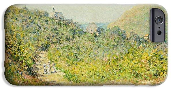 Pathway iPhone Cases - Aux Petites Dalles iPhone Case by Claude Monet