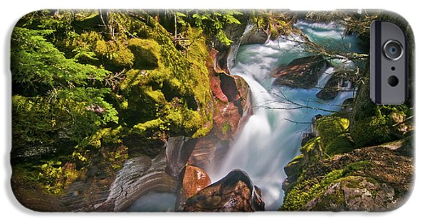 IPhone 6 Case featuring the photograph Avalanche Gorge by Gary Lengyel