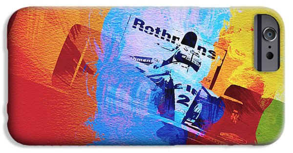 Competition iPhone Cases - Ayrton Senna iPhone Case by Naxart Studio