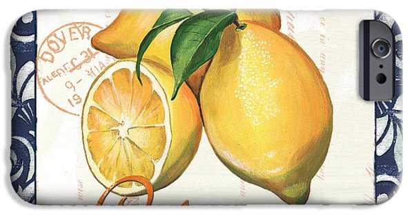 Sour iPhone Cases - Azure Lemon 2 iPhone Case by Debbie DeWitt