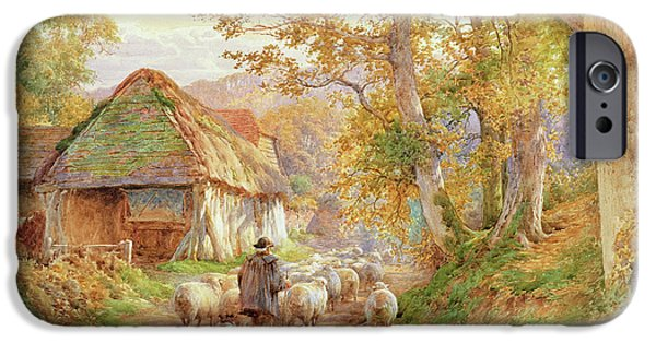 Country Lanes iPhone Cases - Back to the Fold iPhone Case by Charles James Adams