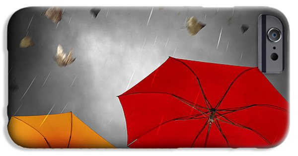 Concept Photographs iPhone Cases - Bad Weather iPhone Case by Carlos Caetano
