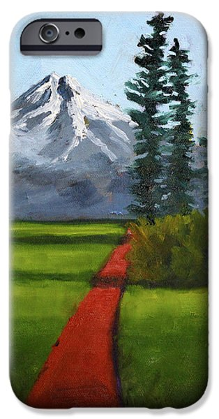 IPhone 6 Case featuring the painting Baker Meadow by Nancy Merkle