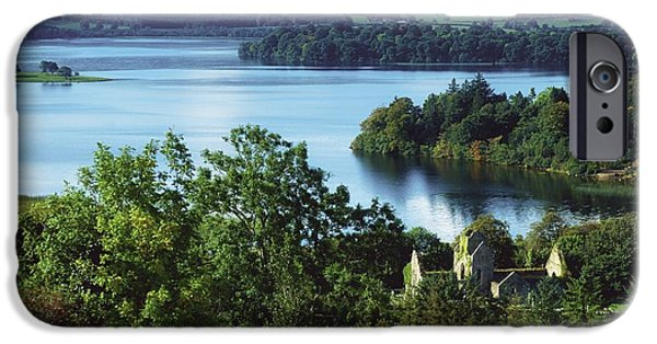 Historic Ruins iPhone Cases - Ballindoon Abbey, Lough Arrow, County iPhone Case by The Irish Image Collection