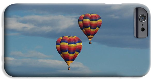 Hot Air Balloon iPhone Cases - Balloons over the Rockies iPhone Case by Ernie Echols