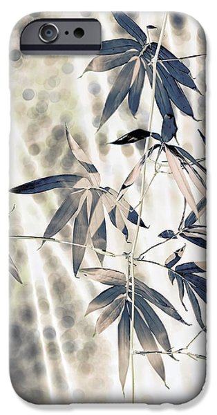 Bamboo Leaves iPhone Cases - Bamboo iPhone Case by Wayne Sherriff