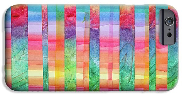 Best Sellers -  - Concept Paintings iPhone Cases - Barcode for Balancing Chakras iPhone Case by Cheryl Irwin