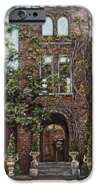 Ruin Paintings iPhone Cases - Barnsley Garden Ruins iPhone Case by Freida Petty
