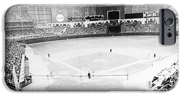 Opening iPhone Cases - Baseball: Astrodome, 1965 iPhone Case by Granger