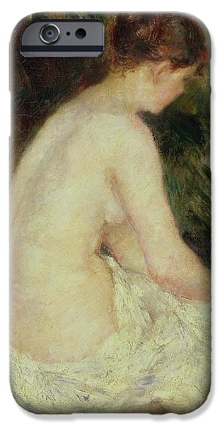 1879 iPhone Cases - Bather iPhone Case by Pierre Auguste Renoir