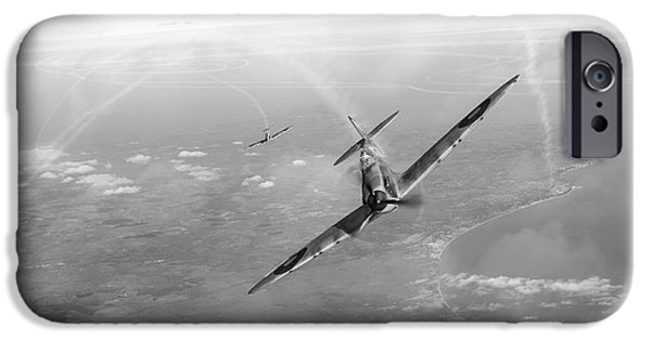 IPhone 6 Case featuring the photograph Battle Of Britain Spitfires Over Kent by Gary Eason