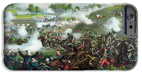 Bulls Mixed Media iPhone Cases - Battle Of Bull Run - Civil War  iPhone Case by War Is Hell Store