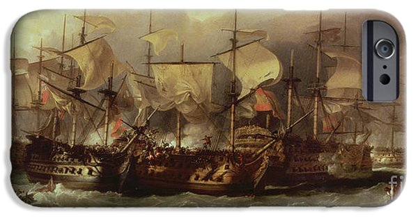 Shipping iPhone Cases - Battle of Cape St Vincent iPhone Case by Sir William Allan